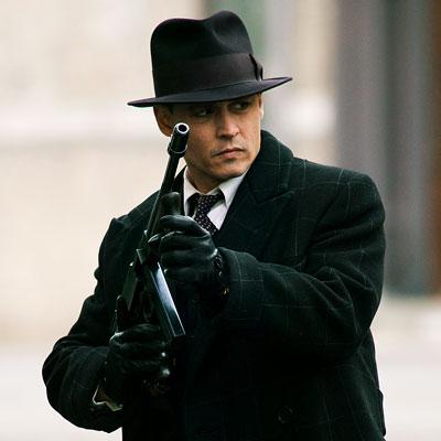 """Johnny Depp as John Dillinger for """"Public Enemies"""""""