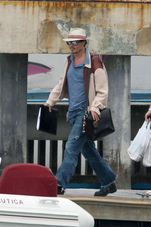 Johnny in Puerto Rico for Rum Diary filming