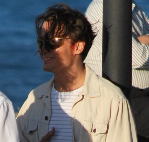 Johnny Depp Chillin on set of Rum Diary
