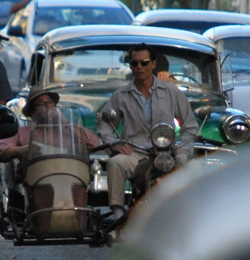 Johnny Depp on Motorcycle