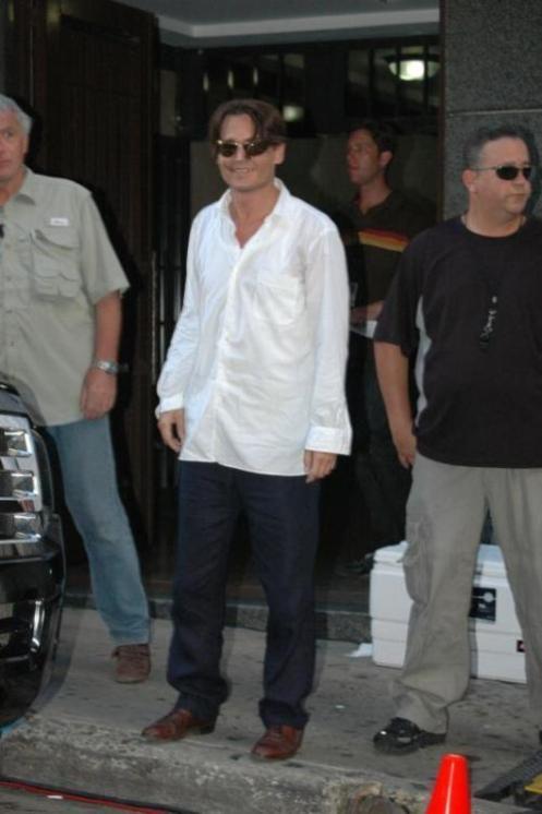 Johnny Depp in Puerto Rico