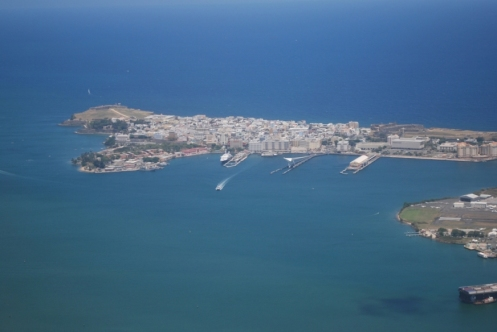 Old San Juan- Can see  our apt from here!!