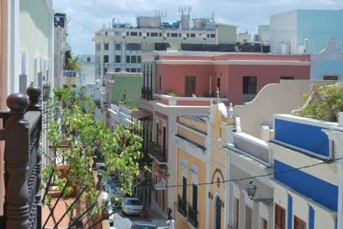 View from the safety of our apartment in Old San Juan