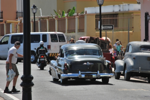 Johnny Depp going in taxi Rum Diary Puerto Rico