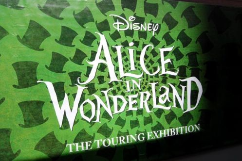 Entrance to the Alice in Wonderland Tour Disney put on at Comic-con