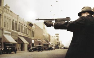 Johnny Depp shoots his way through Public Enemies this summer.